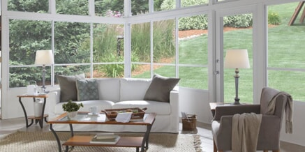 eze breeze system on a large sunroom