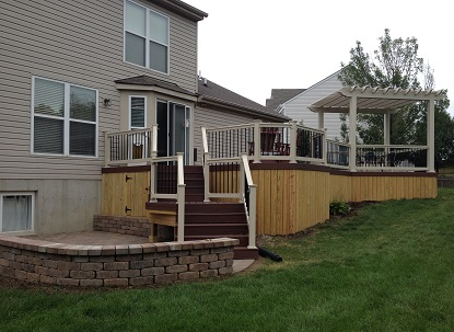 Deck and pergola combination