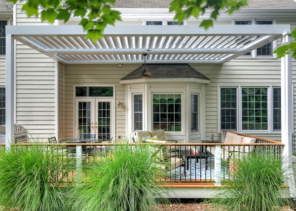 Deck with Equinox Louvered Roof Pergola