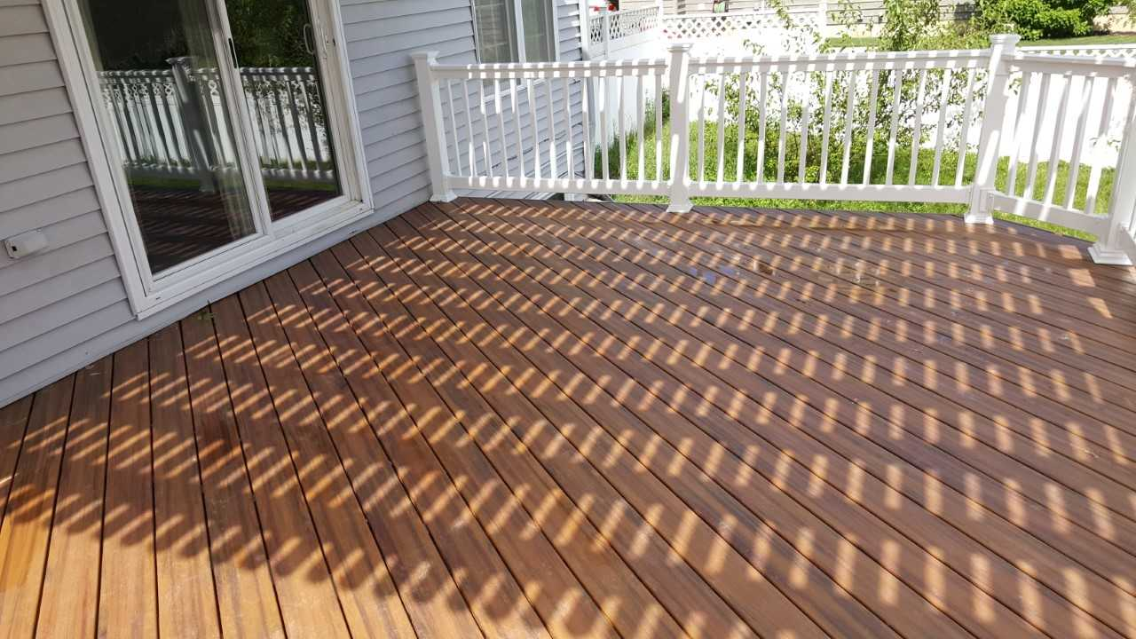 wooden floor of a deck