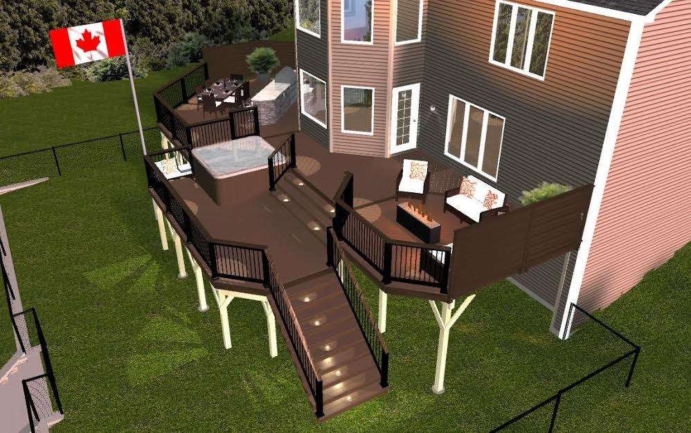 Custom deck 3D design