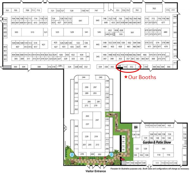 2017 floor plan of Ideal Home Show