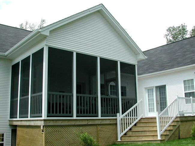 white screened porch on home in Halifax