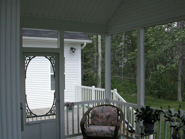 door to outside on screened porch in Halifax