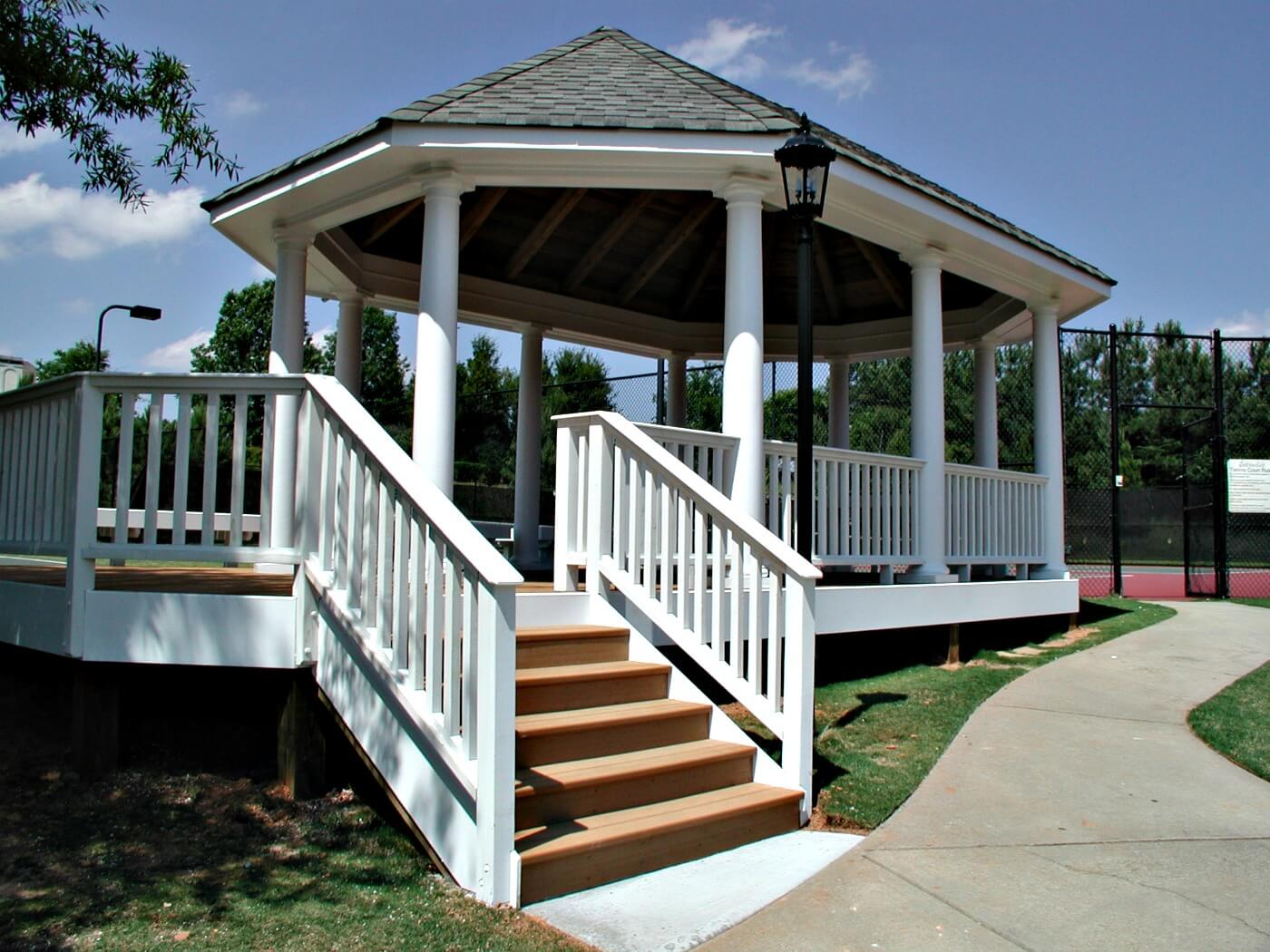 Custom gazebo on deck