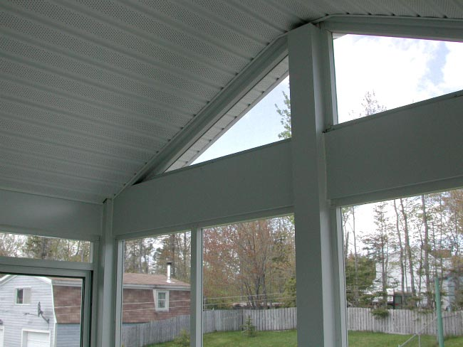 interior ceiling with white vinyl soffit