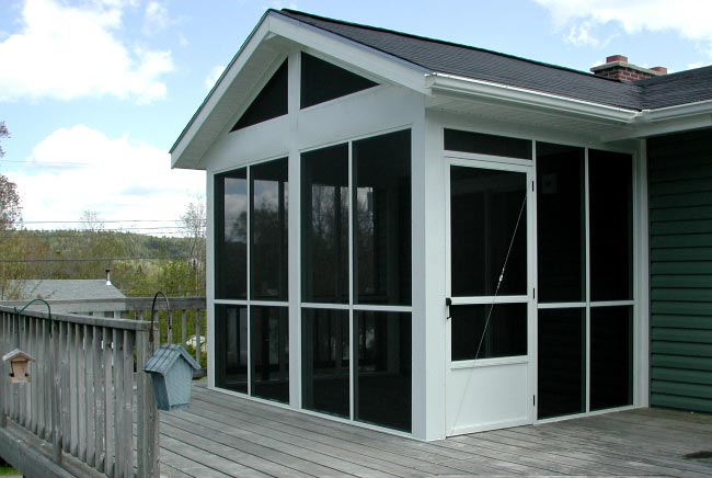 outdoor screen porch in home
