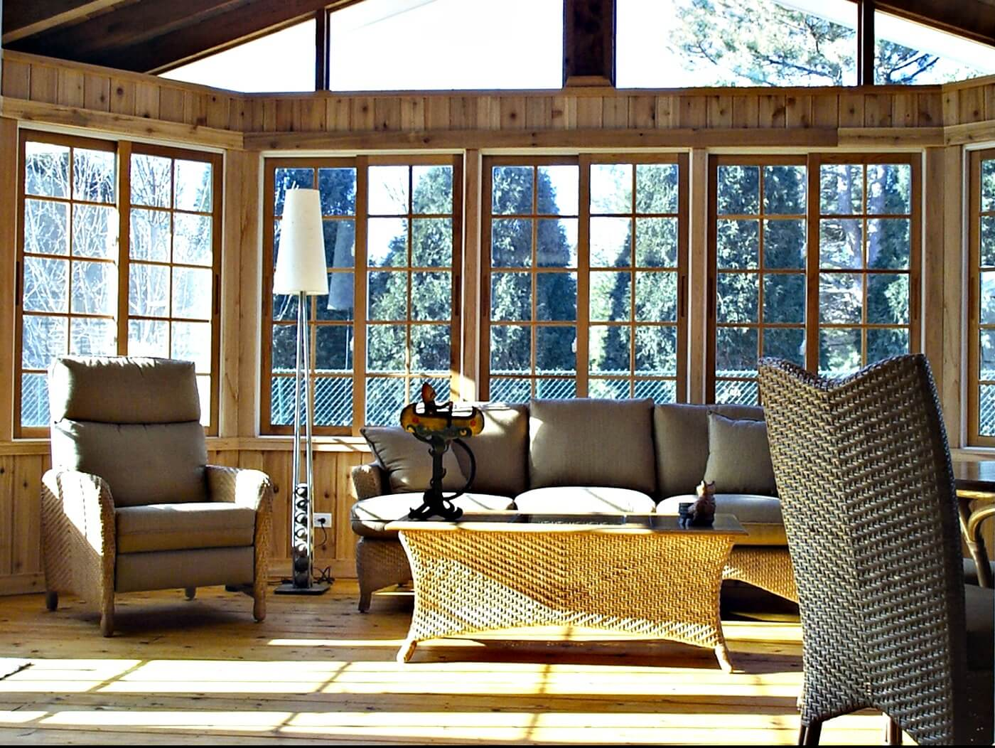 Cozy custom sunroom