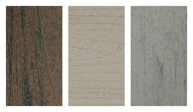 composite decking sample colors